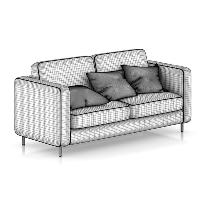 Grey Sofa with Pillows 1