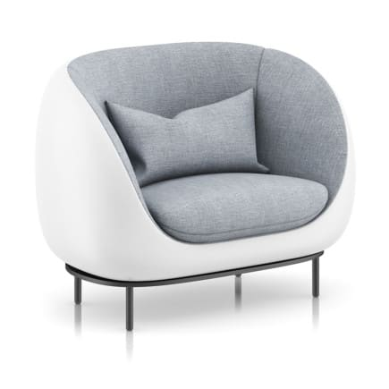 Grey Armchair with Pillow