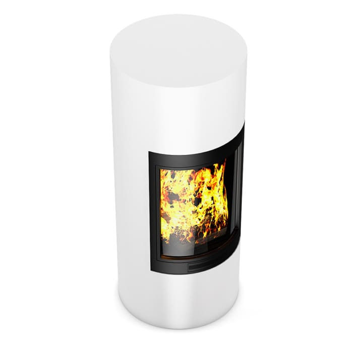 White Standing Fireplace