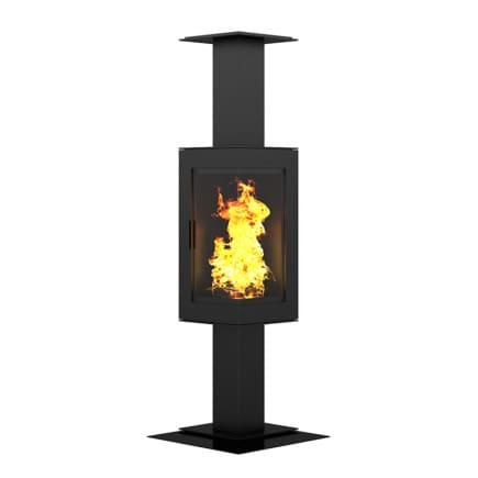 Standing Metal Fireplace 3