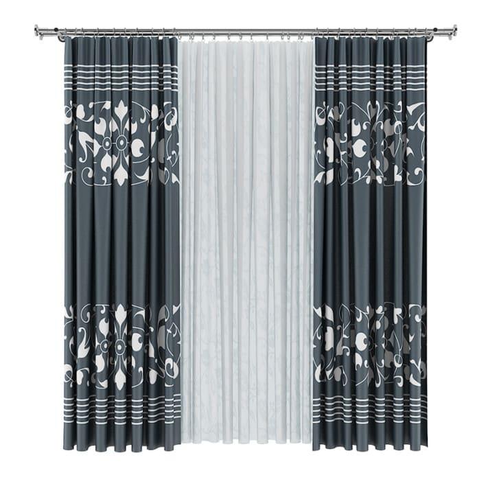 Dark and White Curtains