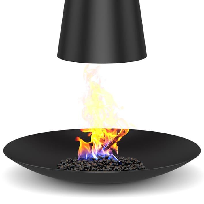 Round Floor Fireplace