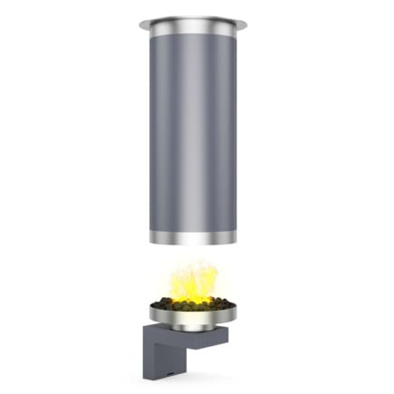 Round Metal Fireplace 4