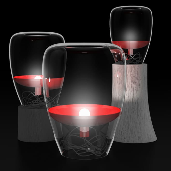 Glass Lamps Set