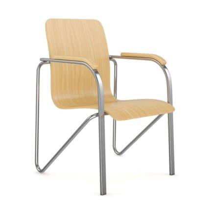 Chrome-Wood Chair