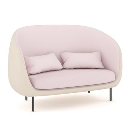 Pink Sofa with Pillows