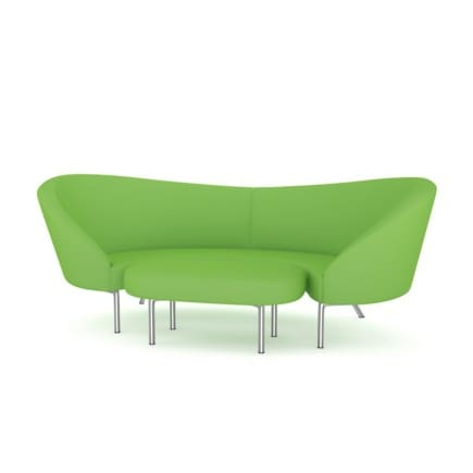 Green Sofa with Footrest