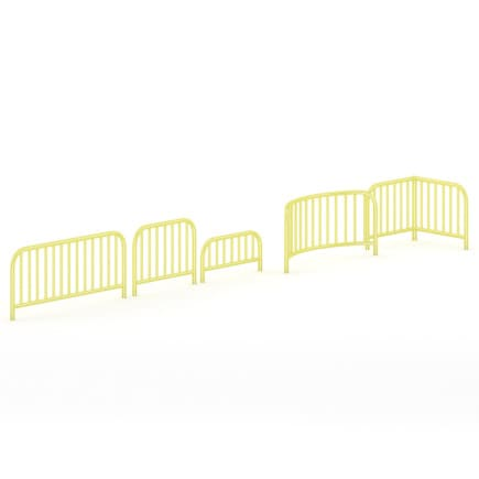 Yellow Sidewalk Barriers