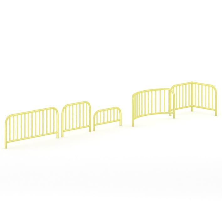 Yellow Sidewalk Barriers