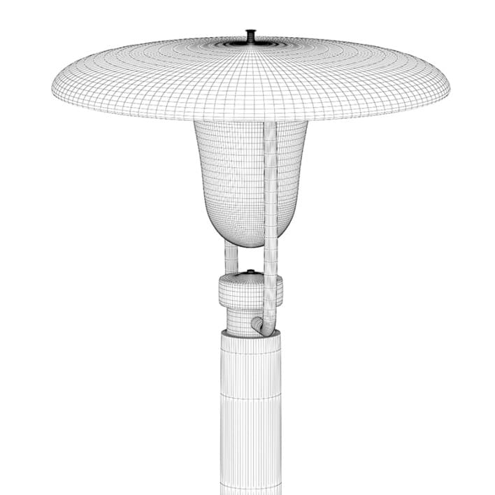 Three Street Lamps
