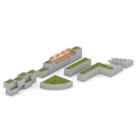Park Concrete Elements Set