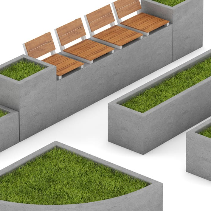 Park Concrete Elements Set