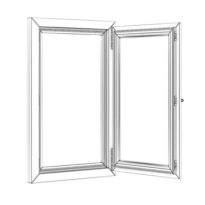 Plastic Window 700mm x 1120mm