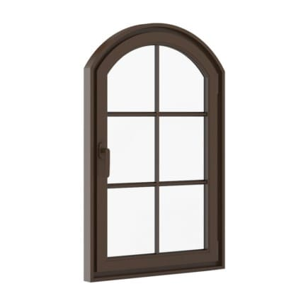 Brown Metal Window 940mm x 1440mm