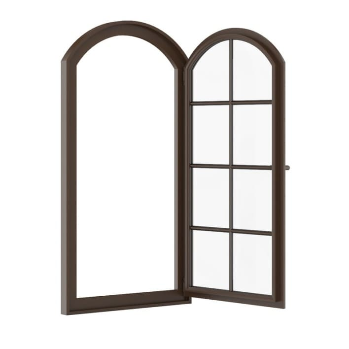 Brown Metal Window 940mm x 1820mm