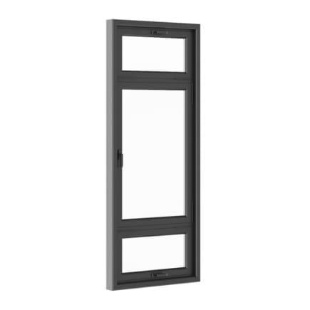 Black Metal Window 1100mm x 2700mm