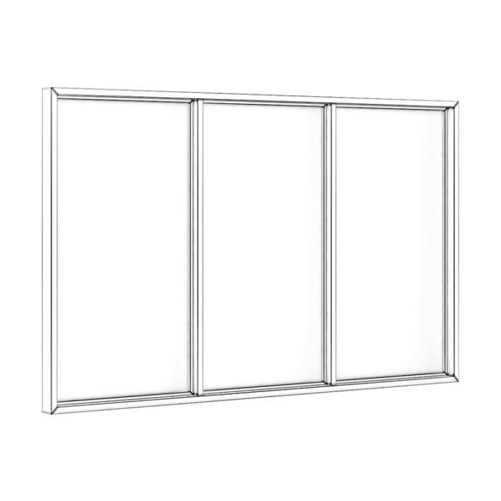 Black Metal Window 3100mm x 1880mm