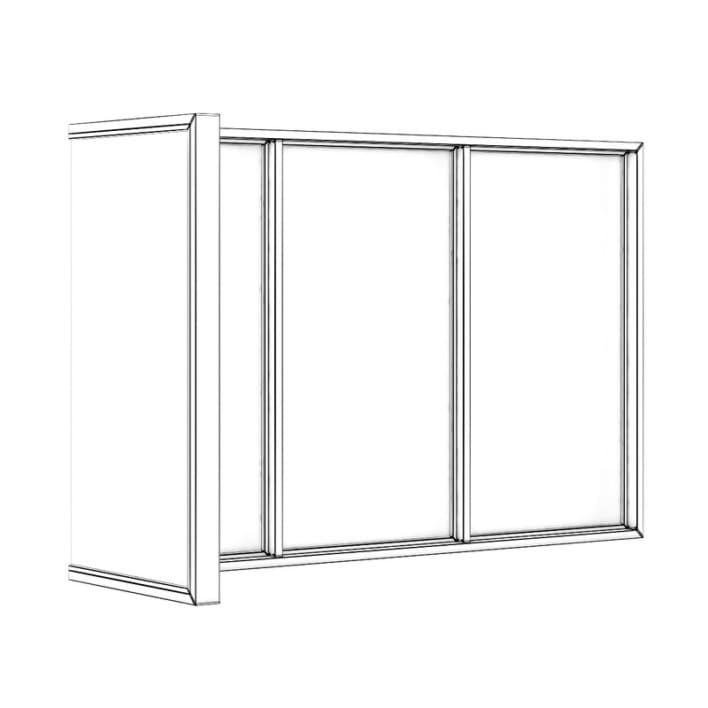 Black Metal Corner Window 3040mm x 1880mm
