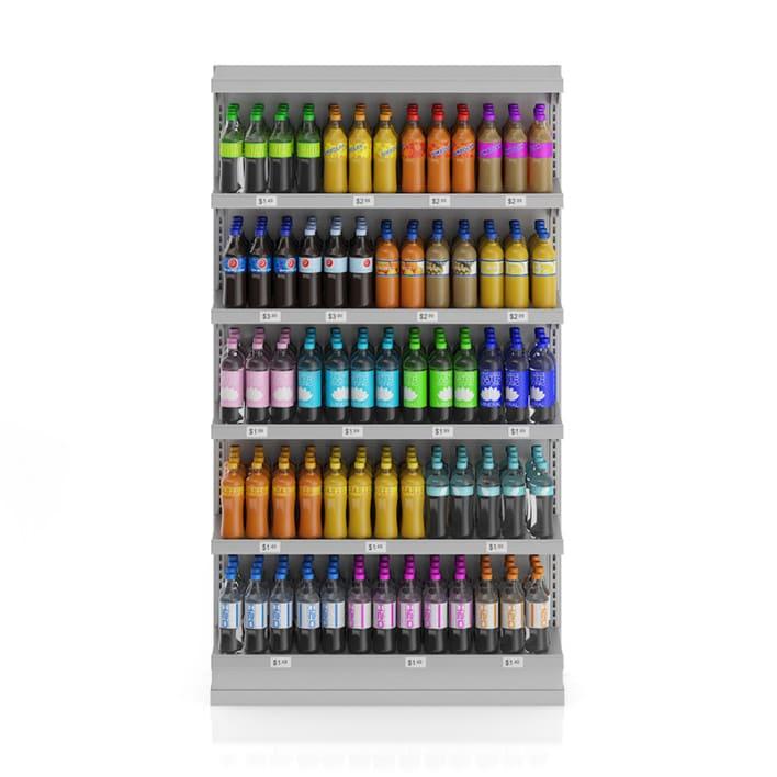 Market Shelf - Bottled drinks 2
