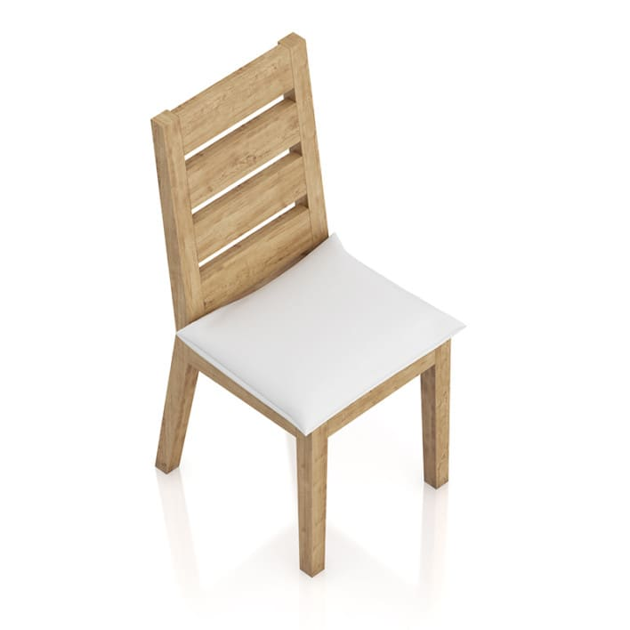 Wooden Chair with Pillow Seat