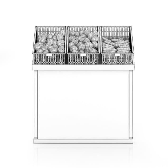 Market Shelf - Potatoes and carrots