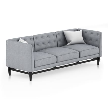 Grey Sofa with Pillows 2