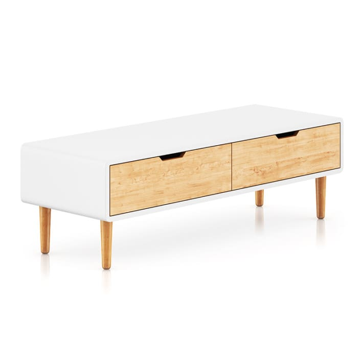 White and Wood Cabinet