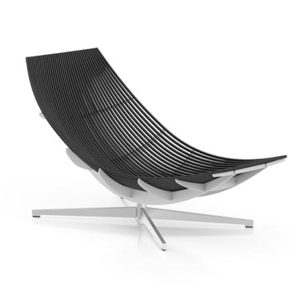 Black Modern Lounge Chair