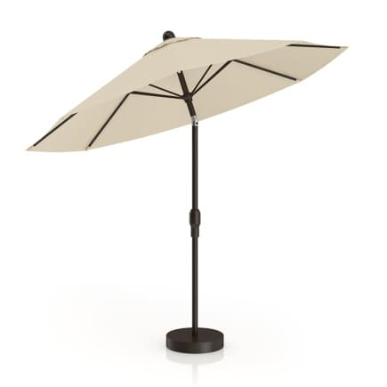 Round Beige Sunshade Umbrella 1