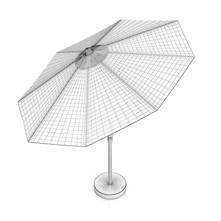 Round Beige Sunshade Umbrella 1