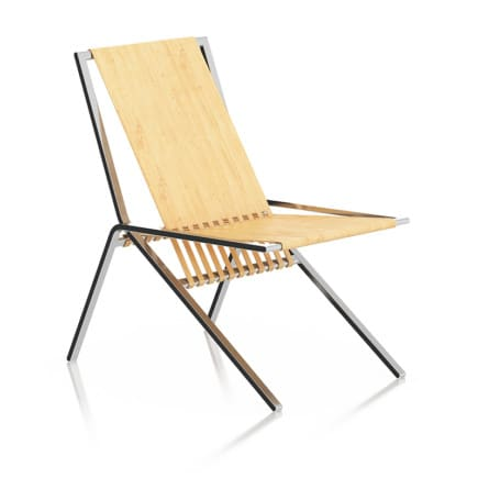 Wood and Metal Lounge Chair