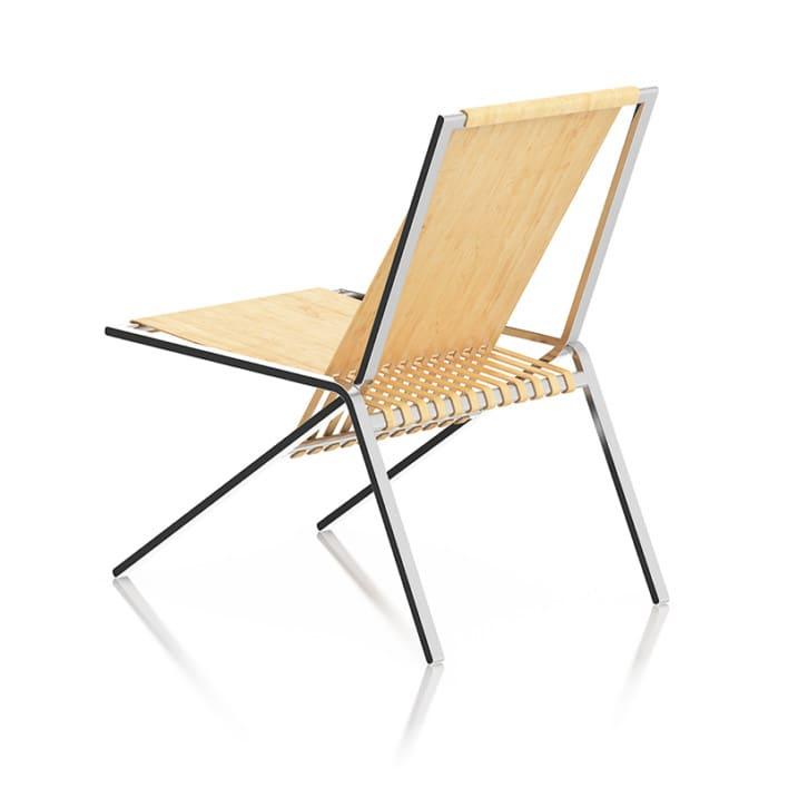 Wood and Metal Lounge Chair