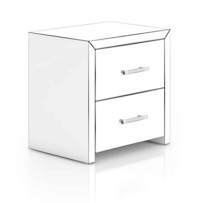 Black Wood Bedside Cabinet