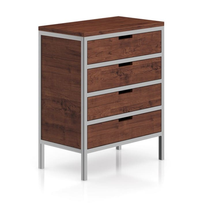 Wooden Cabinet with Metal Frame
