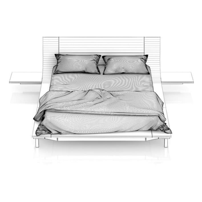 Modern Black Wood Bed