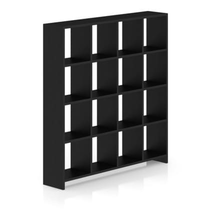 Black Wood Standing Shelves