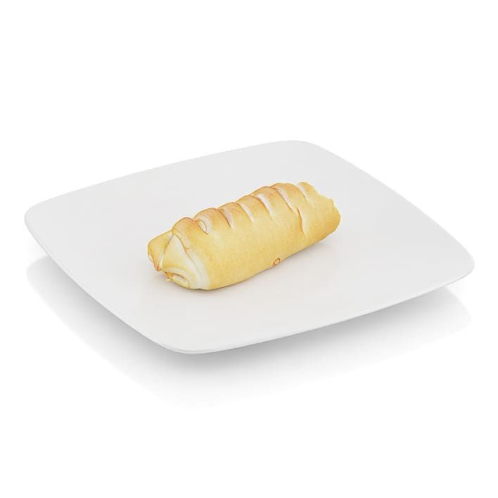 Bitten Roll with sausage