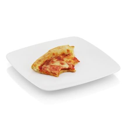 Bitten pizza slice