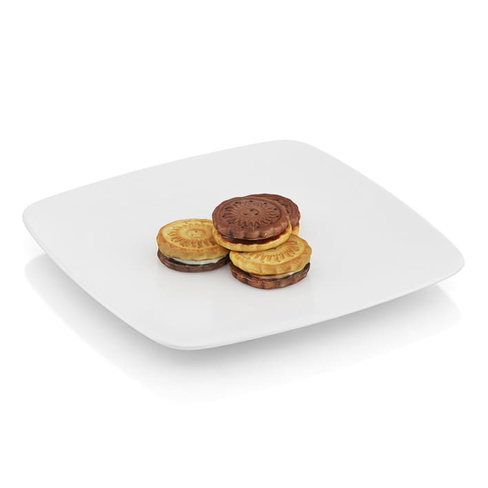 Two-color cookies