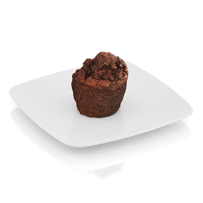 Bitten chocolate muffin