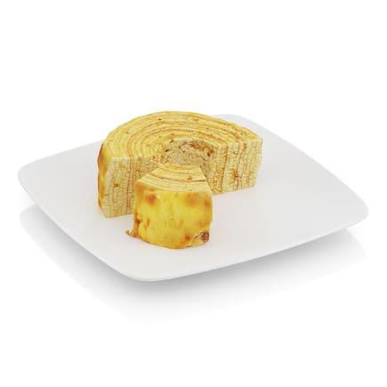 Half-eaten tree cake