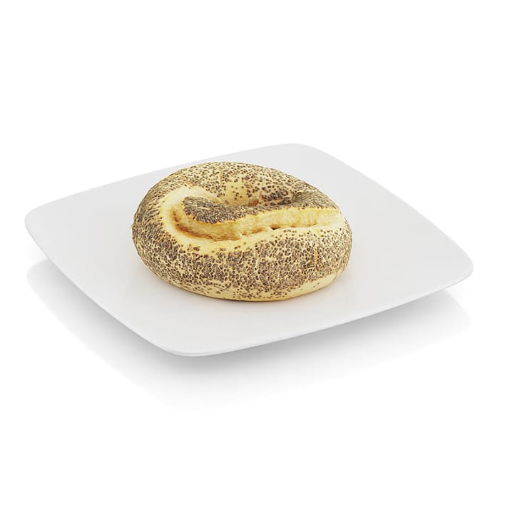 Bagel with poppy seeds
