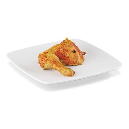 Pan-fried chicken leg