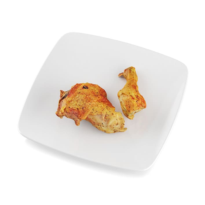 Pan-fried chicken leg