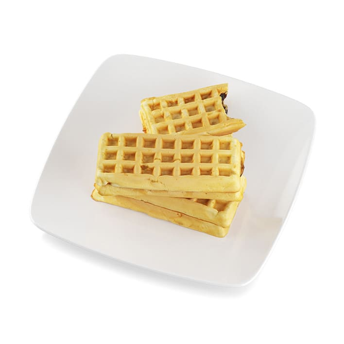 Waffles with filling