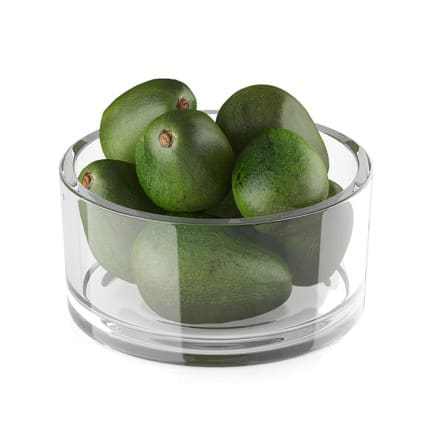 Bowl of avocado fruits