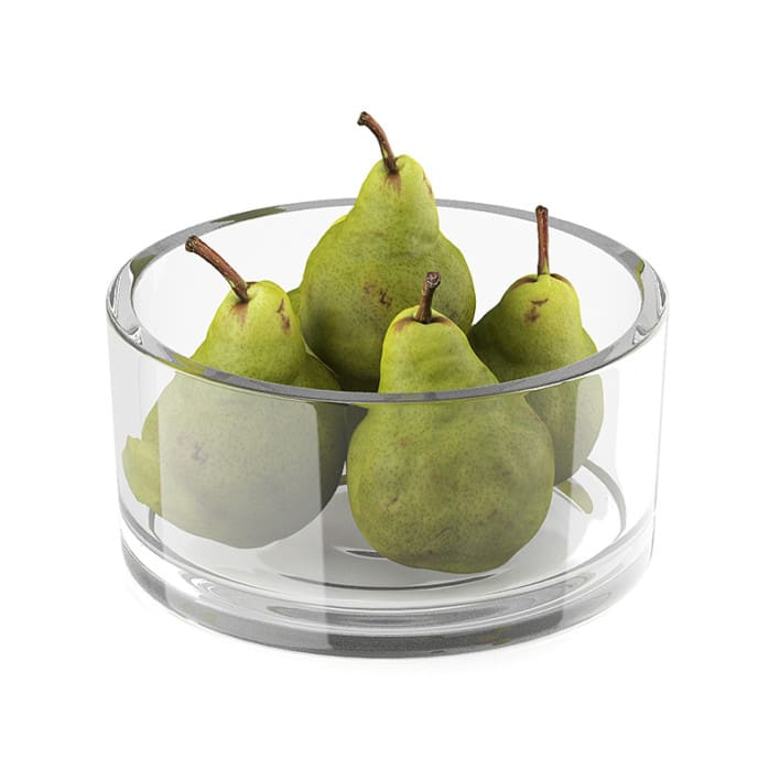 Bowl of pear fruits