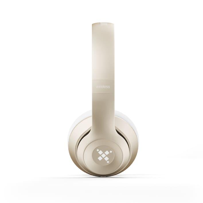 Golden headphones