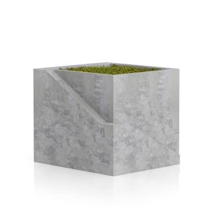 Sqaure Moss Pot