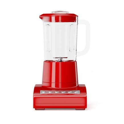 Red Countertop Blender